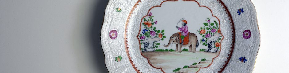 Elephant Chinese Porcelain Plate