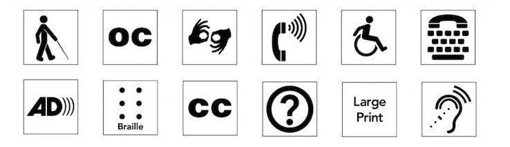 ADA Accessibility Symbols